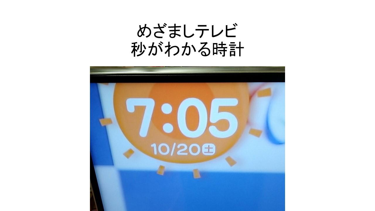 めざましテレビの時計
